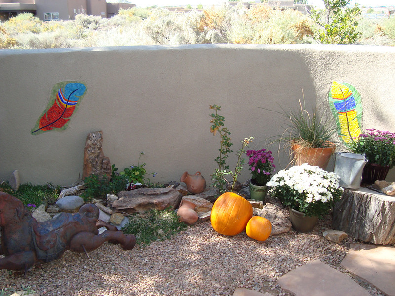 Mosaics installed at private residence in New Mexico.