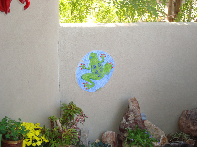 Mosaic installed at private residence in New Mexico.