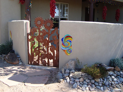 Mosaic installed at private residence in NM.