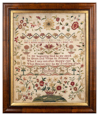 Cross-stitch sampler by Mary Newman