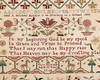 Detail of antique cross-stitch sampler by Mary Newman