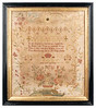 Antique Cross-stitch Sampler by Hannah Callow