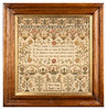 Antique Cross-stitch Sampler by Ann Gedge