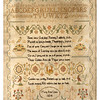 Antique cross-stitch sampler by Mary Ann Lines