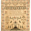 Antique cross-stitch sampler made by Mary Ann Abigail