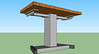 3d rendering of desk made in sketchup
