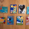 Another batch of artist trading cards.