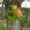 Birdhouse made from recycled plastic molding so it can safely live outside
