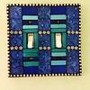 Blue Tapestry Double Switchplate