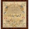 Antique cross-stitch sampler by Frances Ann Tweedy