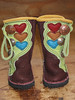 Baby boots!  Just like Mama's boots!  Fun!