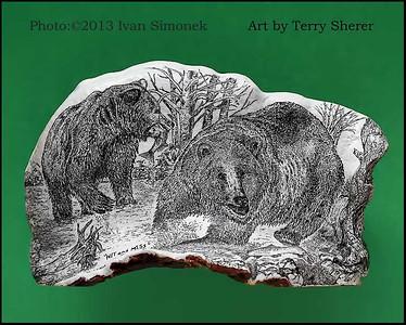 """""""HIT AND MISS"""", a Conk,artist Terry Sherer,Wrangell,Alaska,USA."""
