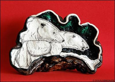 """""""ARTIST`S CONK"""",art by Terry Sherer.Wrangell,Alaska,USA."""