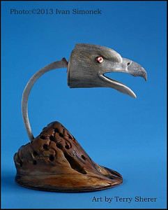 """EAGLE ART1"",bone carving,artist Terry Sherer,Wrangell,Alaska,USA."