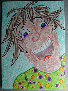 MMH:whimsical/colorful  cartoon version of me