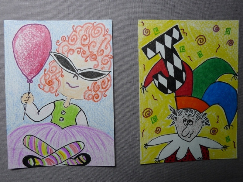 "Junie Dee(colorful whimsical girl for trade), PIF abc trade ""J"""
