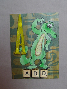MMH(make me happy) Trade * a card with the letter A and something that begins with that letter