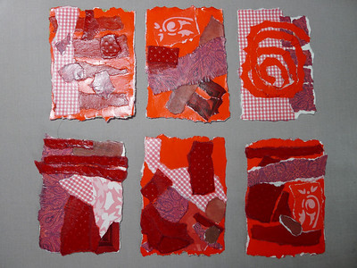 Abstract Art - Torn Paper: Shades of Red swap