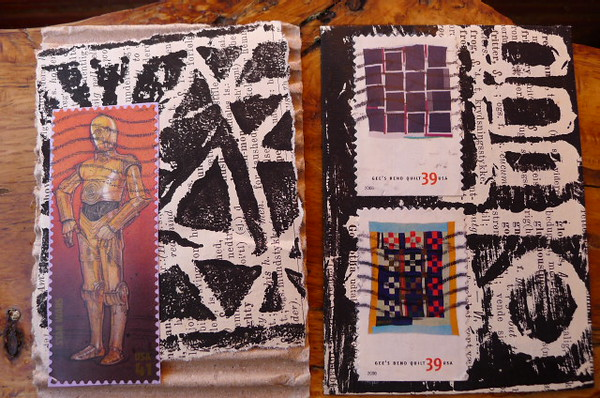 C-3PO and Love Gee's Bend Quilts