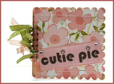 """Cutie Pie"" Scalloped 6 x 6 Album"