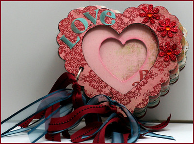 """Love"" Heart Altered Mini Album"