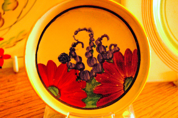 inside the one we bought with our other clarice cliff plates