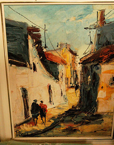This painting looks like it was done by the same Israeli Artist that Addie (Linda's mom) has in her room.