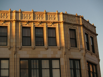 Windows and trim on Grove Arcade; Asheville, NC