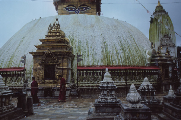 Swayambunath, or the Monkey Temple... it's up on a hill overlooking Kapmandu