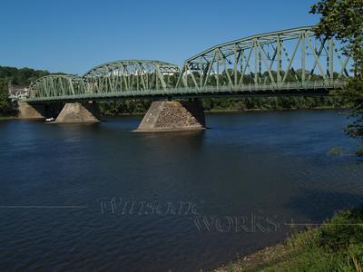 Looking towards NJ; the Milford - Upper Black Eddy Bridge