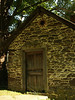 front wall of springhouse by canal