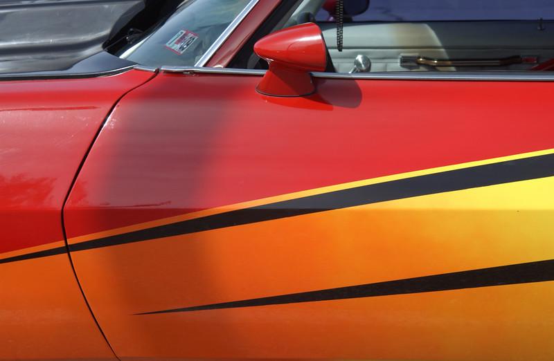 Door of 1973 Camaro