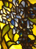 Detail of Grape cluster from a set of leaded glass windows by Louis Comfort tiffany, c. 1905-1910