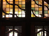 Stained glass window in the International Center, U of M