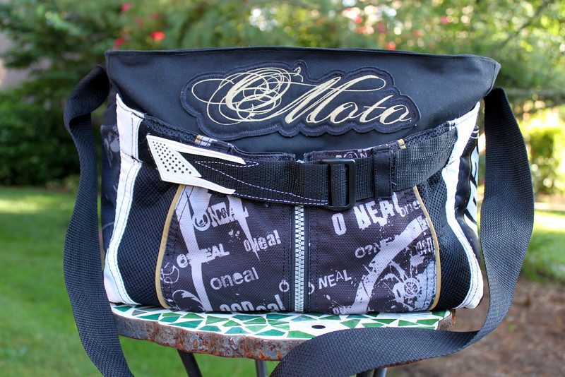 Motocross Diaper Bag made from father's actual motocross pants and jersey