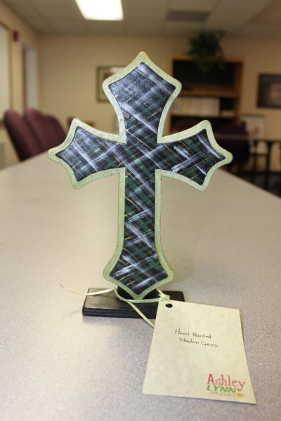 Hand painted wood cross