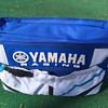 Yamaha diaper bag made from father's motocross pants.