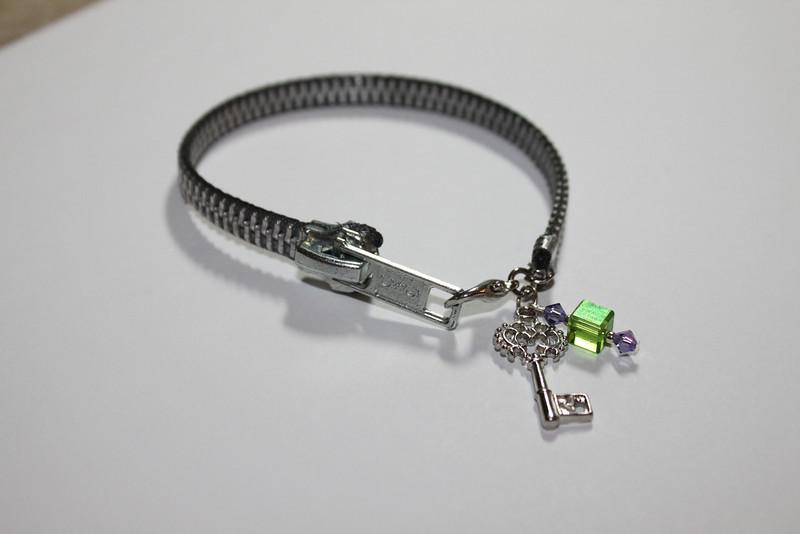 Zipper bracelet with key