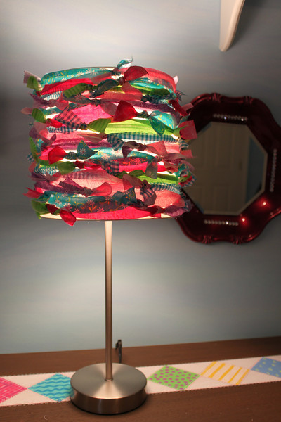 Rag tied lampshade- view 2