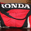 Diaper bag made from father's motocross pants