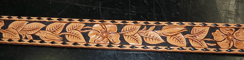 Beautifully Hand-Tooled Leather Belt