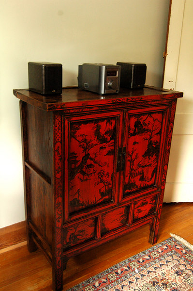 real punch of colour  Northern China cabinet Jamal  on Queen St w but bought from private person $400 a steal