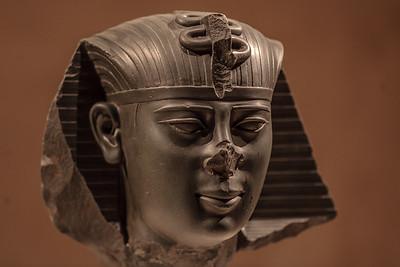 Kopf einer Statue des Königs Amasis Spätzeit, 26. Dynastie, um 550 v. Chr. Sais Grauacke