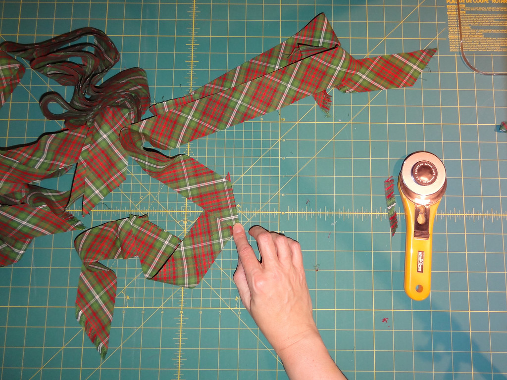 ...and sew together into one long, continuous strip.