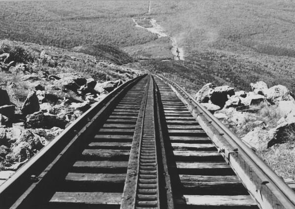 Long View from summit of Mt. Washington, NH Cog Railway
