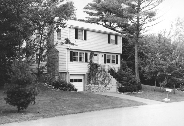 The Lacey Home in Westford MA from 1966 - 2004. This photo circa 1970