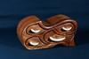 """Tsunami""  - Black Walnut with Curly Maple drawer pulls."