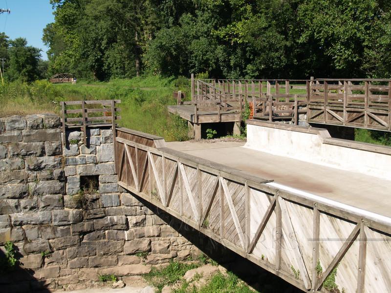 Bridge at old locks south of Riegelsville