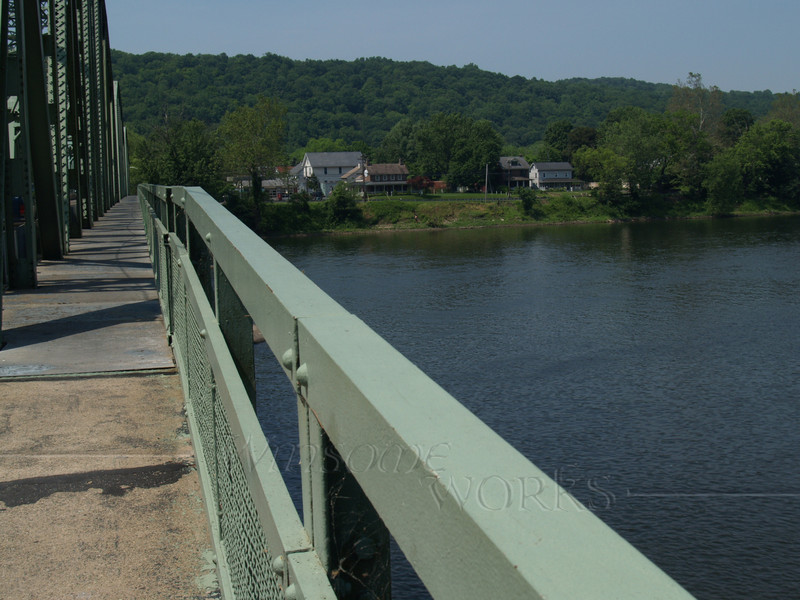 Delaware River Bridge, Milford, NJ (looking across to Upper Black Eddy, PA)