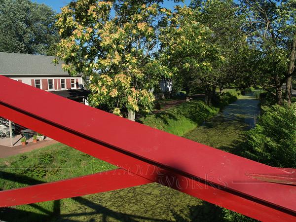 On bridge across Delaware Canal in  Upper Black Eddy
